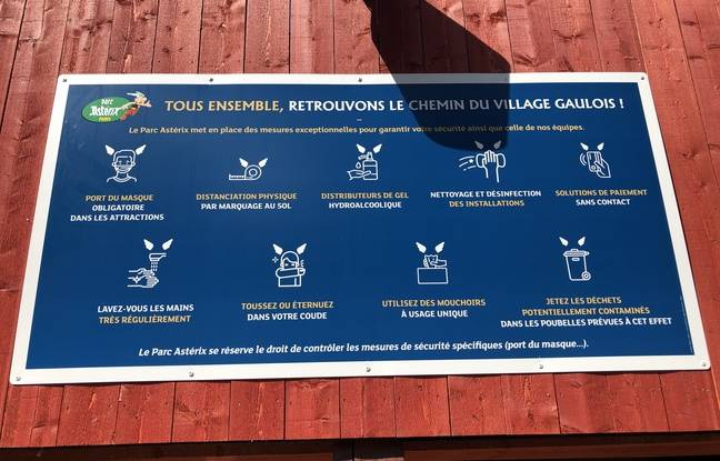 Les gestes barrières recommandés au parc Astérix.