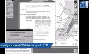 Le concept du World Wide Web est né le 3 mars 1989 mais le premier navigateur n'est arrivé qu'en 1991.