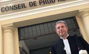 L'avocat Romain Geoffroy, jeudi, au conseil des prud'hommes de Nice