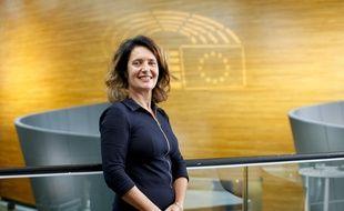 Irène Tolleret à Strasbourg, eurodéputée LREM.