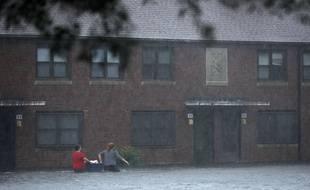 Avant l'arrivée de l'ouragan Florence, la ville de New Bern, en Caroline du Nord, était déjà inondée, le 13 septembre 2018.