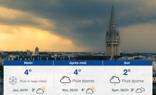Météo Caen: Prévisions du mercredi 23 janvier 2019