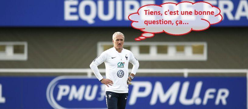 Didier Deschamps en pleine réflexion (ou pas).
