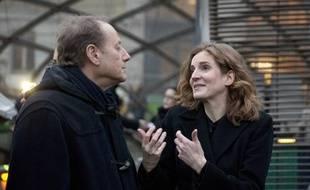 Nathalie Kosciusko-Morizet et Philippe Goujon, maire du 15ème arrondissement à Paris; le 12 décembre 2013.