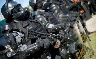 Unité spéciale de la police brésilienne à Rio de Janeiro le 30 mai 2014