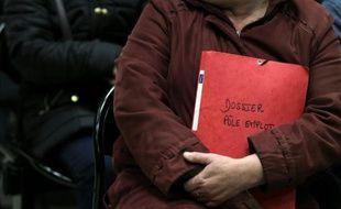 Une personne au chômage, le 29 janvier 2015 à Caen