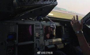 Le cockpit de l'A319 de Sichuan Airlines qui s'est brisé en vol le 14 mai 2018.