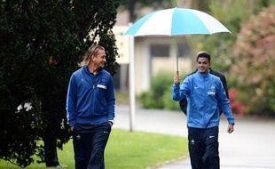 Philippe Mexès et Hatem Ben Arfa le 21 mai à Clairefontaine