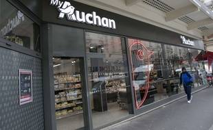 Un magasin Auchan à Paris (Illustration).