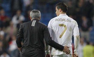 Cristiano Ronaldo et José Mourinho, le 14 mars 2012