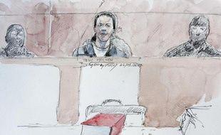 Croquis d'audience de Tony Meilhon lors de son procès le 22 mai 2013 à Nantes