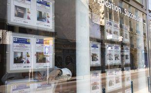 Pantin le 02 avril 2013. Illustration immeubles, immobilier a Pantin. Centre ville. Batiments. Agence immobiliere liste d'annonces de logements.
