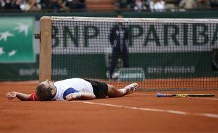 Richard Gasquet face à Andy Murray en quarts de finale de Roland-Garros, le 1er juin 2016.