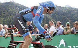 Le coureur de l'équipe Garmin David Millar, le 8 juin 2013 lors du Tour de Suisse.