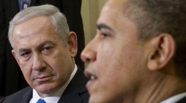 """Barack Obama et Benjamin Netanyahu sont """"unis"""" face à l'Iran dans le dossier nucléaire, a affirmé mardi soir la Maison Blanche à l'issue d'une journée fertile en signes de discorde, dont la révélation que les deux dirigeants ne se verraient pas à l'ONU en fin de mois. – Saul Loeb afp.com"""