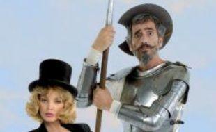 """Arielle Dombasle dans """"Don Quichotte contre l'ange bleu"""", une pièce de Jérôme Savary"""