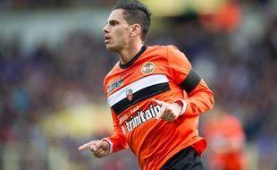 L'attaquant de Lorient, Jérémie Aliadière, lors d'un match contre Toulouse à Toulouse, le 21 avril 2013.