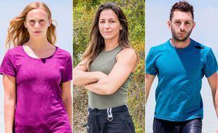 Maxine, Lucie et Jonathan, les trois finalistes de « Koh-Lanta : Les armes secrètes »