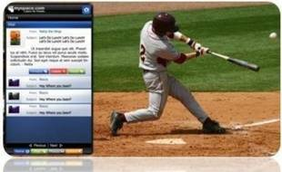 L'application Widget Channel, qui permet d'être connecté au réseau MySpace depuis son poste de télévision