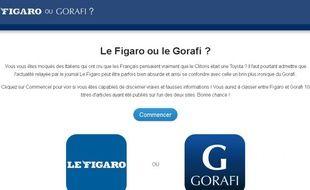 Capture d'acran du site figarovsgorafi.fr