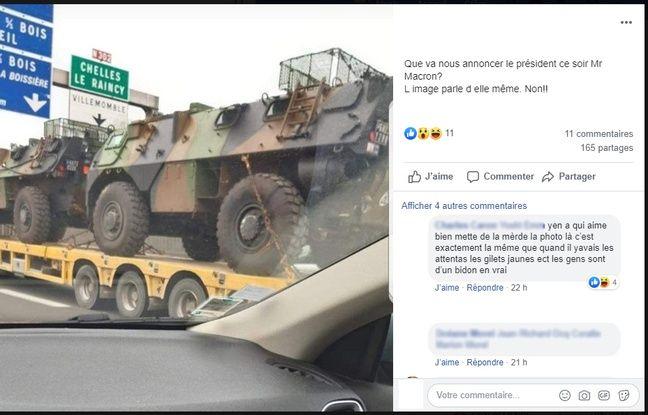 La photo virale de camions militaires.