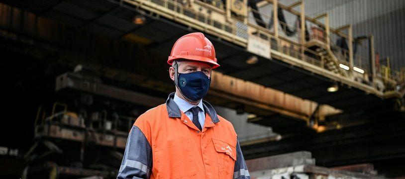 Le ministre de l'Economie Bruno Le Maire était en visite à Fos-sur-Mer sur le site d'ArcelorMittal