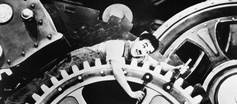 Charlie Chapli dans « Les Temps modernes » (1936).