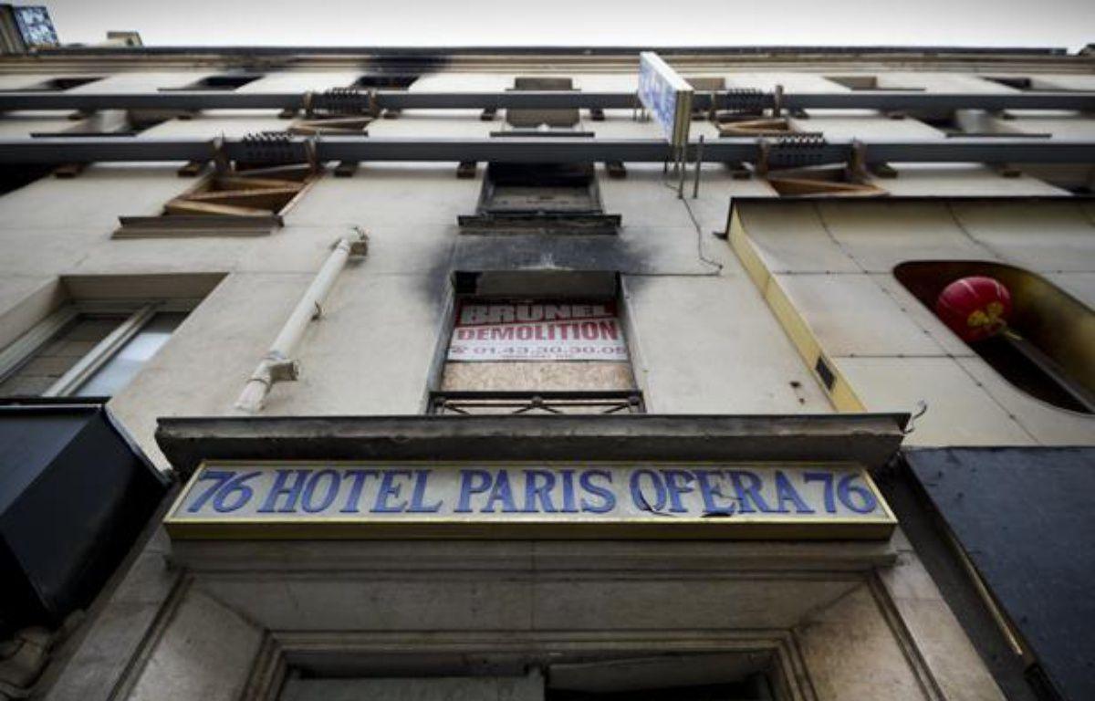 Le 15 avril 2005, 24 personnes ont péri dans l'incendie qui a ravagé l'hôtel Paris-Opéra, rue de Provence à Paris. Photo prise le 13 novembre 2013. – V. WARTNER / 20 MINUTES