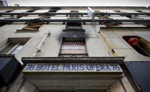 Le 15 avril 2005, 24 personnes ont péri dans l'incendie qui a ravagé l'hôtel Paris-Opéra, rue de Provence à Paris. Photo prise le 13 novembre 2013.