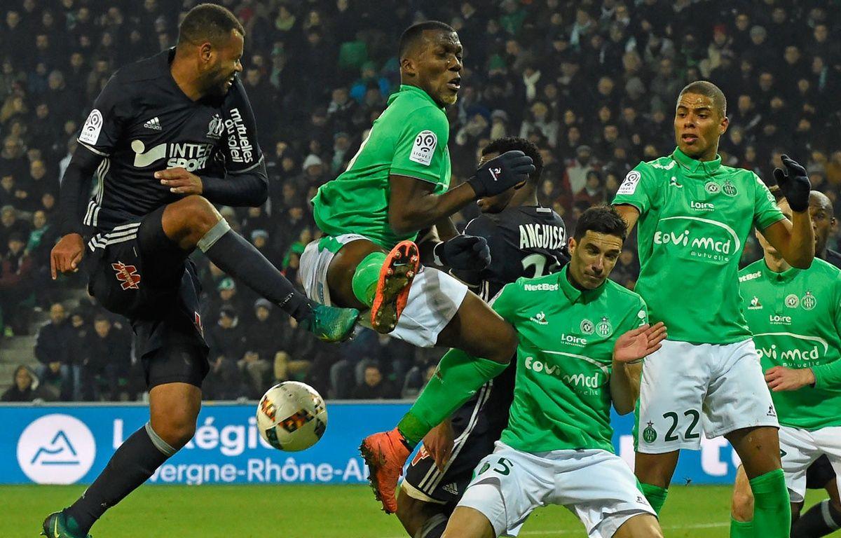 Marseille contre Saint-Etienne, au match aller – AFP