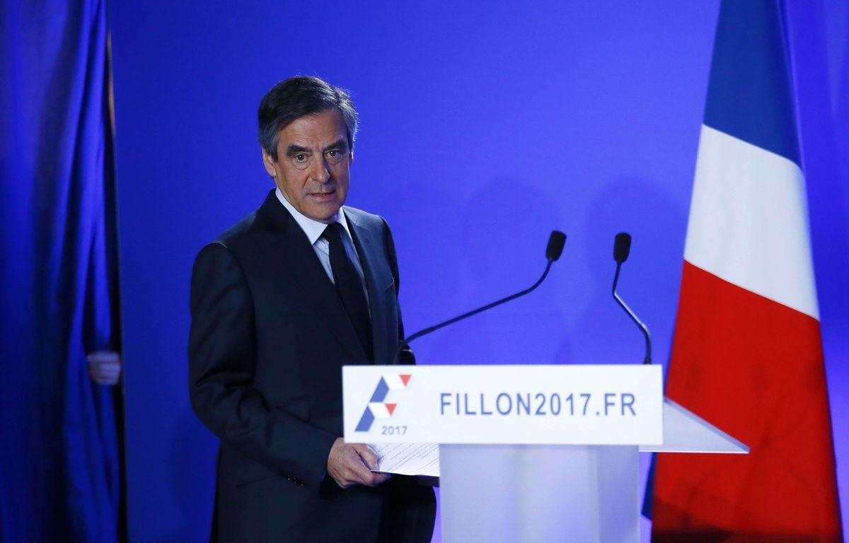 François Fillon, candidat LR à la présidentielle, le 1er mars 2017 au QG de campagne à Paris –  Francois Mori/AP/SIPA