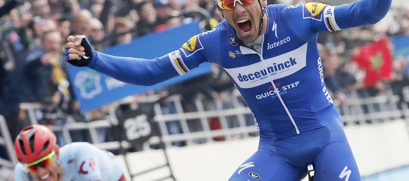 Philippe Gilbert a remporté au sprint Paris-Roubaix
