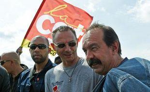 Philippe Martinez à son arrivée le 21 mai 2016 à la raffinerie de  Douchy-les-Mines