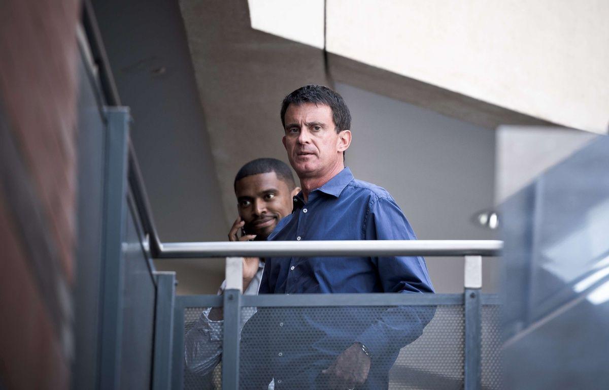 L'ex-Premier ministre Manuel Valls, candidat aux législatives dans l'Essonne, le 18 juin 2017 à Evry (Essonne). – SIPA