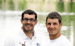 Cédric Berrest (à gauche) et Julien Bahain, unis par l'amitié et la soif de l'or.
