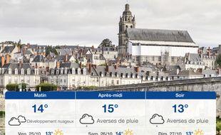 Météo Tours: Prévisions du jeudi 24 octobre 2019