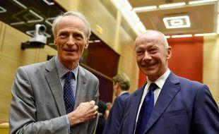 Jean-Dominique Senard et Thierry Bolloré à Paris, le 24 septembre 2019.
