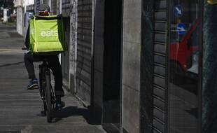 Un vélo Uber Eats en Italie