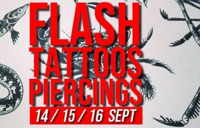 Visuel officiel des flash tattoos & piercings réguliers de la Mutinerie