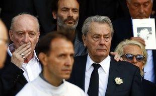 L'acteur Alain Delon, et son fils Anthony Delon à Paris le 1er septembre 2017.