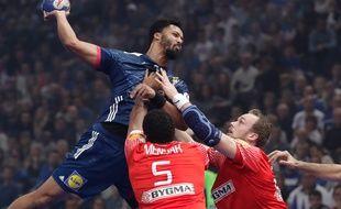 Cédric Sorhaindo et les Bleus s'inclient face au Danemark, juste avant le début de l'Euro 2018.