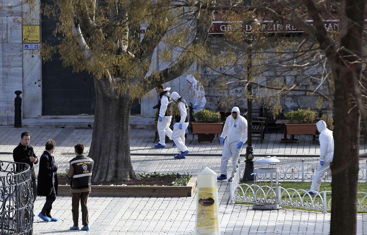 Istanbul après un attentat suicide le 12 janvier 2016. – STR/AP/SIPA