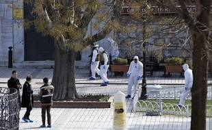 Istanbul après un attentat suicide le 12 janvier 2016.