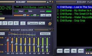 Le logiciel Winamp, lancé en 1997.