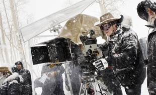 Quentin Tarantino sur le tournage des 8 Salopards