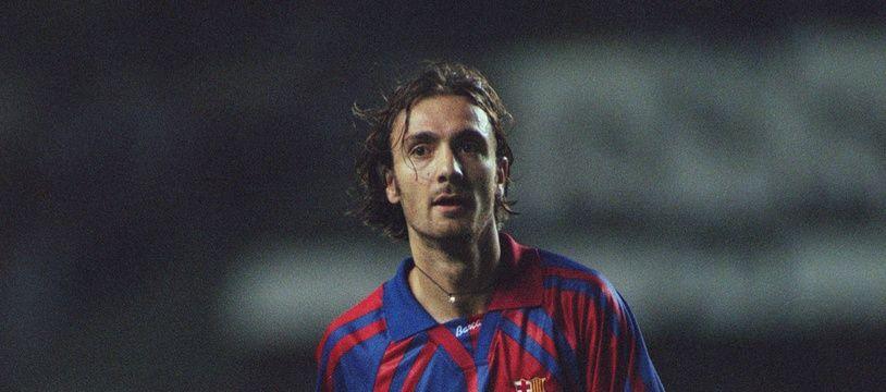 Dugarry lors de son passage au Barça