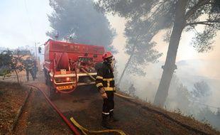 Un incendie a touché la commune de Castagniers