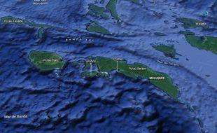 L'archipel des Moluques (Indonésie).