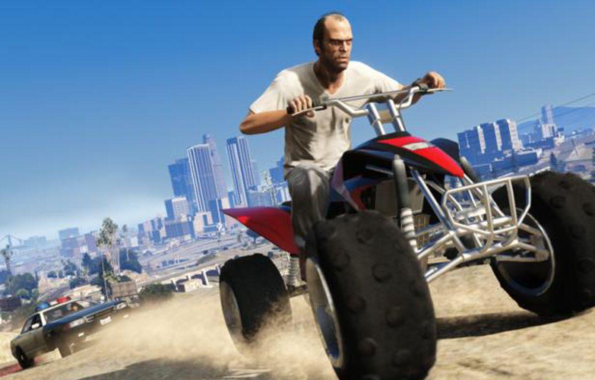 Scène de poursuite dans «Grand Theft Auto 5». – ROCKSTAR