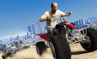 Scène de poursuite dans «Grand Theft Auto 5».